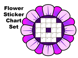 Spring Flower StickerChart Set | Other Files | Documents and Forms