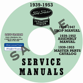 1939-1947 Ford 2N 9N Tractor Shop Manual Parts Books | eBooks | Automotive