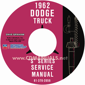 1962 Dodge Pickup & Truck Shop Manual - All Models | eBooks | Automotive
