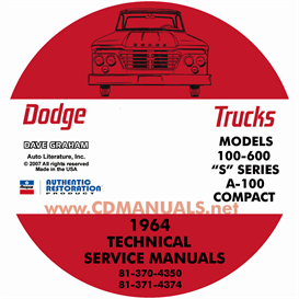 1964 Dodge Truck & 1964-1965 Van Shop Manual - All Models | eBooks | Automotive