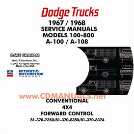 1967-1968 Dodge Truck Shop Manual - All Models   eBooks   Automotive