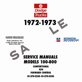 1972-1973 Dodge 100-800 Truck Shop Manual - All Models | eBooks | Automotive