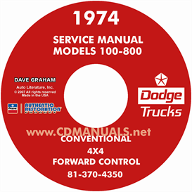 1974 Dodge Pickup & Truck Shop Manual - All Models | eBooks | Automotive