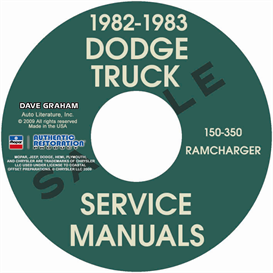 1982-1983 Dodge Pickup 150-350 | eBooks | Automotive