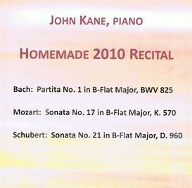 Homemade 2010 Recital Bach Bb Partita 4 Sarabande MP3 | Music | Classical