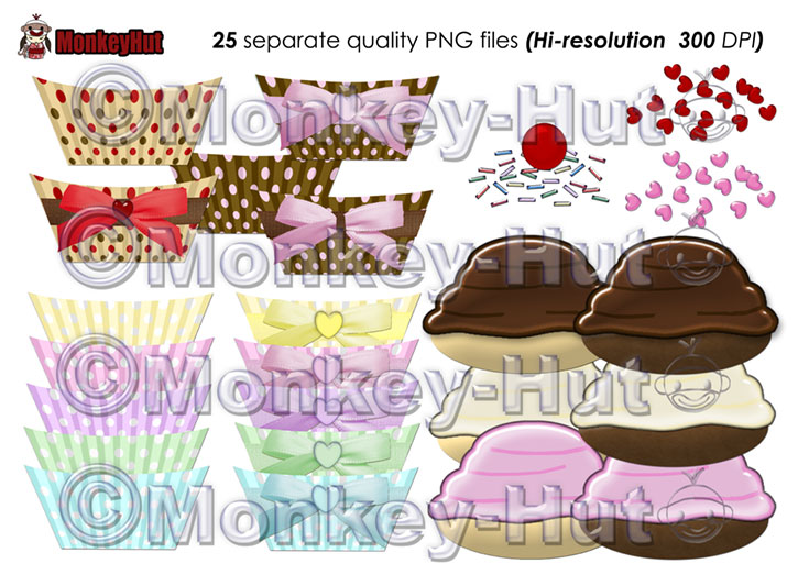 First Additional product image for - Cupcake Clip Art COMMERCIAL USE