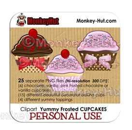 Cupcake Clip Art COMMERCIAL USE | Other Files | Arts and Crafts