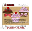 Cupcake Clip Art - PERSONAL USE | Other Files | Clip Art
