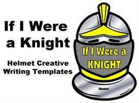 if i were a knight - helmet creative writing set