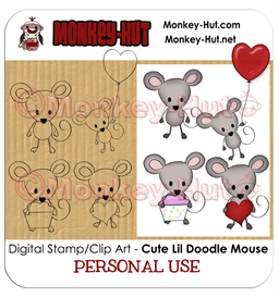 Clip Art / Digital Stamp Mouse Doodle CUTE - Personal Use | Other Files | Clip Art