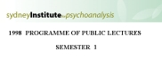 sydney institute for psychoanalysis 1998 public lecture series term 1