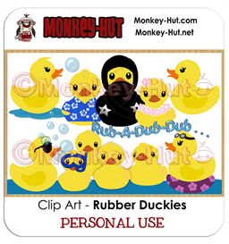 Clip Art Rubber Ducky Duckie Duckies PERSONAL USE | Other Files | Clip Art