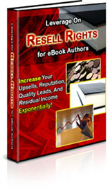 Leverage on Resell Rights for eBook Authors | eBooks | Business and Money