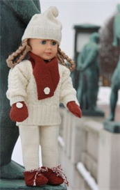 DollKnittingPattern 0040D KIRSTEN - Sweater, Hat, Ski Pants, Shoes, Gloves | Crafting | Knitting | Baby and Child