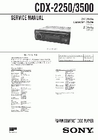 Sony Car Audio Cdx-2250 3500 Service Manual | eBooks | Technical