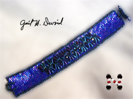 Dagger Embellished Seed Bead Bracelet | eBooks | Arts and Crafts