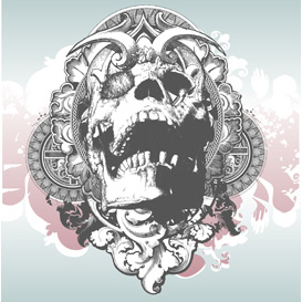 Vector Mythical Skull Illustration | Photos and Images | Digital Art