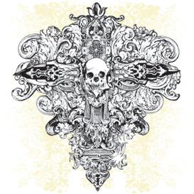 Vector Cross Skull Illustration | Photos and Images | Digital Art