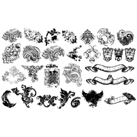 Flourishes and Scrolls Vector set 2 | Photos and Images | Digital Art