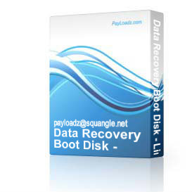 Data Recovery Boot Disk - Linux Windows 98 XP 2000 NT Vista 7 | Software | Utilities