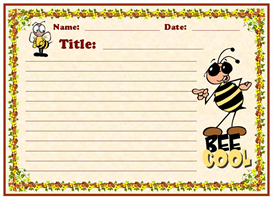 Bee Cool Stationery Set | Other Files | Documents and Forms