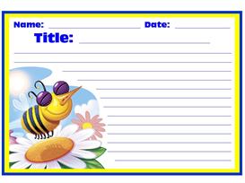 Busy Bee Stationery Set | Other Files | Documents and Forms