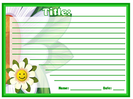 Our Writing is Blooming Stationery Set | Other Files | Documents and Forms