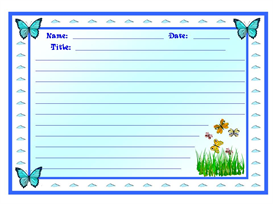 Butterfly Stationery Set   Other Files   Documents and Forms