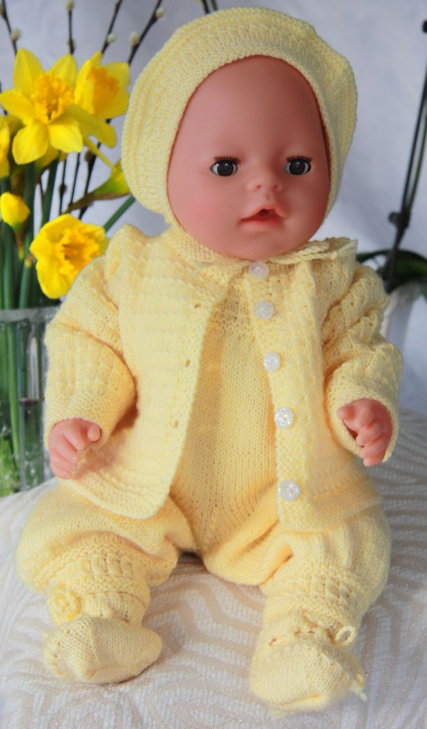 Free 18 Inch Knitted Doll Clothes Patterns : DollKnittingPattern 0041D SUSAN - Jacket-Pant-Cap/Bonnet and Socks Crafting...