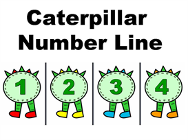 Caterpillar Number Line 1-100 | Other Files | Documents and Forms