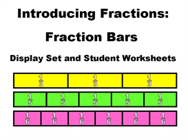 Introducing Fractions - Fraction Bar Resource Set | Other Files | Documents and Forms