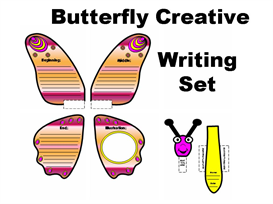 butterfly creative story writing templates