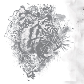 Tiger Floral Vector Illustration | Photos and Images | Digital Art