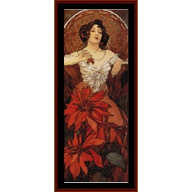 Ruby - Mucha cross stitch pattern by Cross Stitch Collectibles | Crafting | Cross-Stitch | Wall Hangings