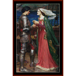 tristan and isolde -waterhouse cross stitch pattern by cross stitch collectibles