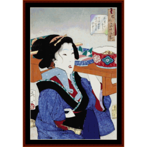 Ukiyoe 7 - Asian Art cross stitch pattern by Cross Stitch Collectibles | Crafting | Cross-Stitch | Wall Hangings