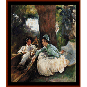 by the river - sargent cross stitch pattern by cross stitch collectibles