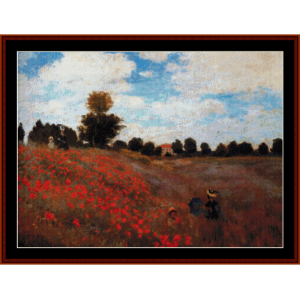 Poppy Field - Monet cross stitch pattern by Cross Stitch Collectibles | Crafting | Cross-Stitch | Wall Hangings
