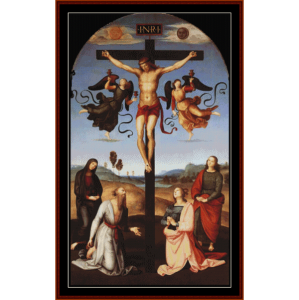 The Crucifixion - Raphael cross stitch pattern by Cross Stitch Collectibles | Crafting | Cross-Stitch | Wall Hangings