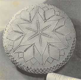 Knitting Pattern For Round Cushion Cover : Viennese Lace round cushion cover vintage knitting pattern eBooks Arts an...