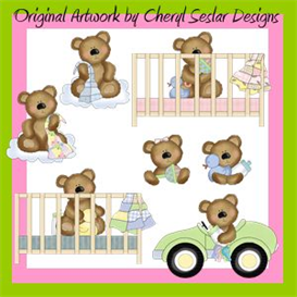 Sweet Baby Bears Clip Art Set