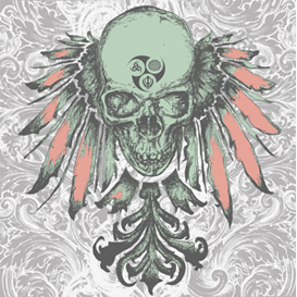 Skull Heraldry Vector Illustration | Photos and Images | Digital Art