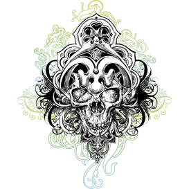 Warrior Skull Illustration | Photos and Images | Digital Art