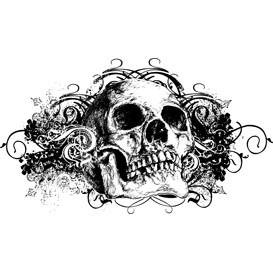 Vector Grunge Skull Illustration | Photos and Images | Digital Art