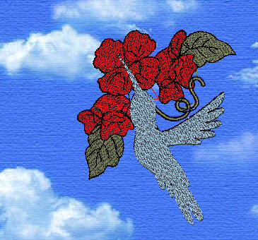 First Additional product image for - Hummingbird Silhouette Florals
