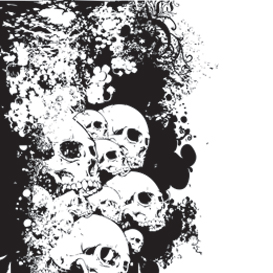 Wall Of Skulls Vector Illustration | Photos and Images | Digital Art