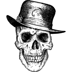 Pimp Skull Vector Illustration | Photos and Images | Digital Art