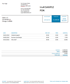 Designer Invoice Word Template | Software | Design Templates