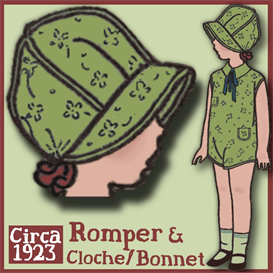 1920's Romper & Bonnet/Cloche | eBooks | Arts and Crafts