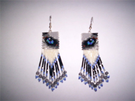 Brick Stitch Husky Eye Delica Seed Beading Earring Pattern | Other Files | Arts and Crafts